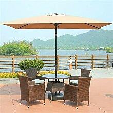 Patio Parapluie patio rectangulaire en aluminium
