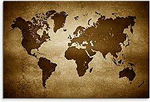 Paul Sinus Art Tableau Motif carte du monde 100 x