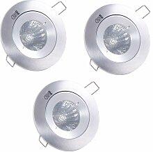 Paulmann - 3 x spot encastré luminaire éclairage