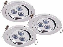 Paulmann - 3 x spot LED luminaire intérieur