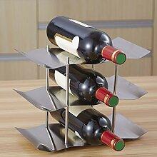PBOHUZ Casier à vin Casier à vin ondulé :