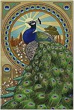 Peacock - Puzzle Art Nouveau 500 pièces pour