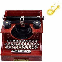 Peahop Boîte à Musique rétro Vintage pour la