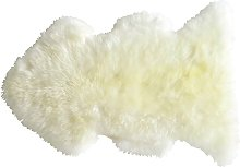 Peau de mouton Sibérie coloris neige