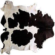 Peau Naturelle Blanc/Noir tapis
