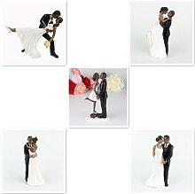 Peau noire Couple romantique marié et mariée