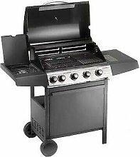 PEBSHOP Barbecue à gaz plaque de cuisson en fonte
