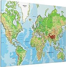 Peinture 40,6 x 50,8 cm carte du monde imprimée