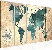 Peinture Carte Du Monde Impression sur Toile