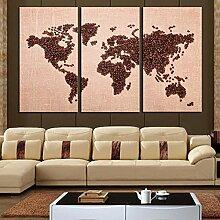 Peinture d'art murale Carte du monde vintage