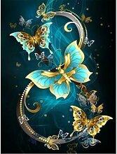 Peinture de diamant 5D à mosaïque de papillons,