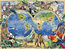 Peinture de diamant 5D de la carte du monde des
