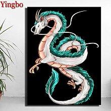 Peinture de diamant à mosaïque de dragon,