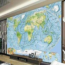 Peinture décorative 3D - Motif carte du monde de