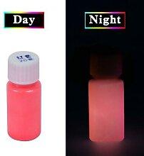 Peinture fluorescente rouge phosphorescente, 20g,