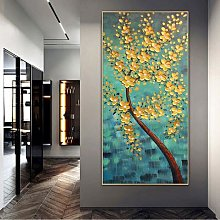 Peinture sur toile jaune, Art mural, nouveau Style