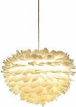 Pendentif abat-jour à plumes pour plafond