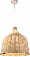 Pendentif En Bambou Moderne Lumière Créative À