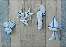 Pendentif en bois pour décoration marine, 3