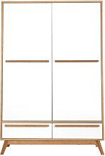 Penderie deux portes design scandinave HELIA
