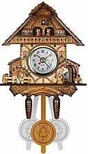 Pendule à Coucou Arbre Maison Horloge Murale Art