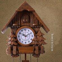 Pendule à Coucou forêt Horloge Antique Pendule