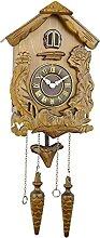 Pendule Coucou, Horloge Murale Coucou en Bois