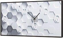 Pendule LUMINEUSE HEXAGONS EN RELIEF GL3510