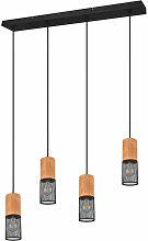 Pendule Plafond Projecteur Lampe Cage Bois Salon