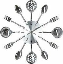 Pendule ustensiles de cuisine - d 38 cm - métal