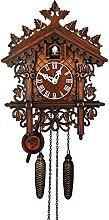 Pendules à coucou Horloge à coucou en bois,