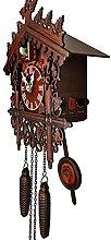 Pendules à coucou Horloge de cuckoo bois suspendu