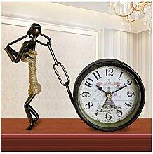 Pendulettes de Bureau Horloge d'art de fer