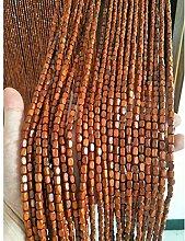 Pengfei Rideau de porte en perles de bois