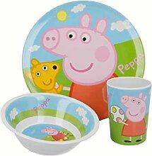 Peppa Wutz Pig Service de table 3 pièces pour
