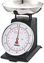 Perel Balance de cuisine analogique 5 kg Noir