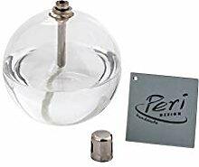 Peri GLASS - 1240 - Lampe A Huile Ronde DIAMETRE 8