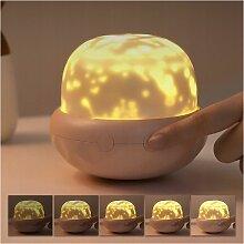 Perle rare Lampe de projection champignon fleuri