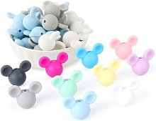 Perles de dentition Mickey silicone sans BPA, lot