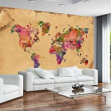 Personnalisé grand mur peintre rétro carte du
