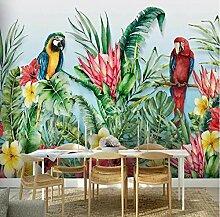 Personnalisé Mural Plante Tropicale Fleur Oiseau