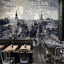 Personnalisé Rétro Carte Du Monde Murale Murale