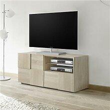 Petit banc TV 120 cm couleur chêne clair ARTIC 3