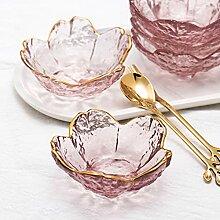 Petit bol japonais en verre à motif fleurs de