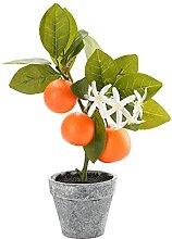 Petit bonsaï artificiel d'oranger - Arbre