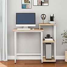 Petit bureau d'ordinateur avec cadre en métal