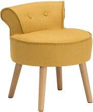 Petit fauteuil crapaud SAVEA en tissu - Jaune