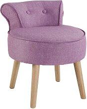 Petit fauteuil crapaud SAVEA en tissu - Rose