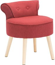 Petit fauteuil crapaud SAVEA en tissu - rouge