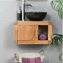 Petit meuble de salle de bain suspendu 50 cm en